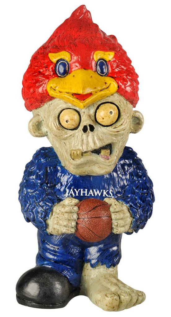 Kansas Jayhawks Zombie Figurine - Thematic w/Football