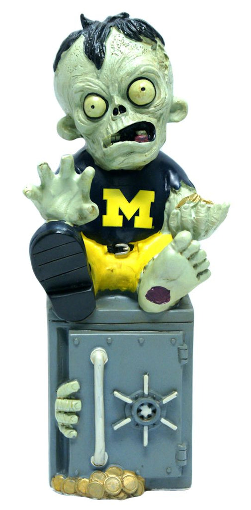 Michigan Wolverines Zombie Figurine Bank