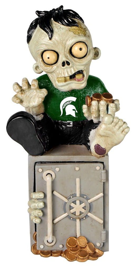 Michigan State Spartans Zombie Figurine Bank