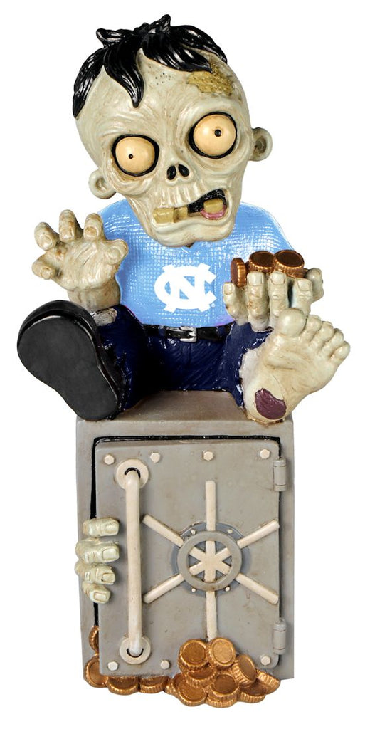 North Carolina Tar Heels Zombie Figurine Bank