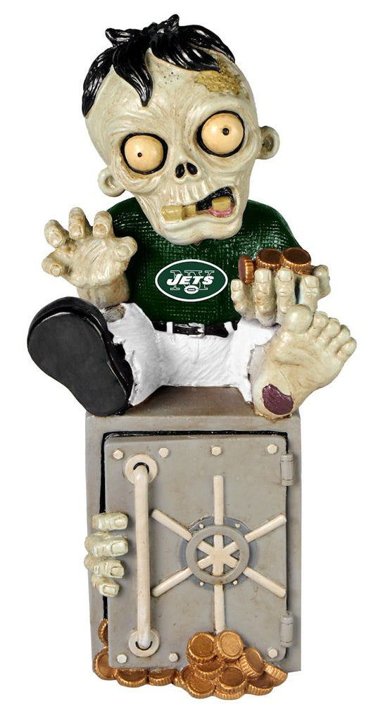 New York Jets Zombie Figurine Bank