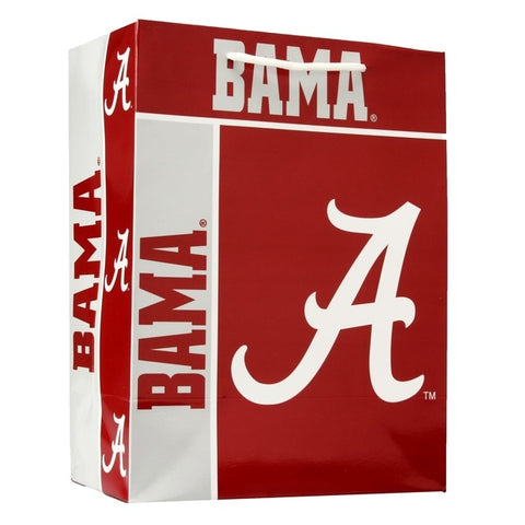 Alabama Crimson Tide Gift Bag Medium Holiday