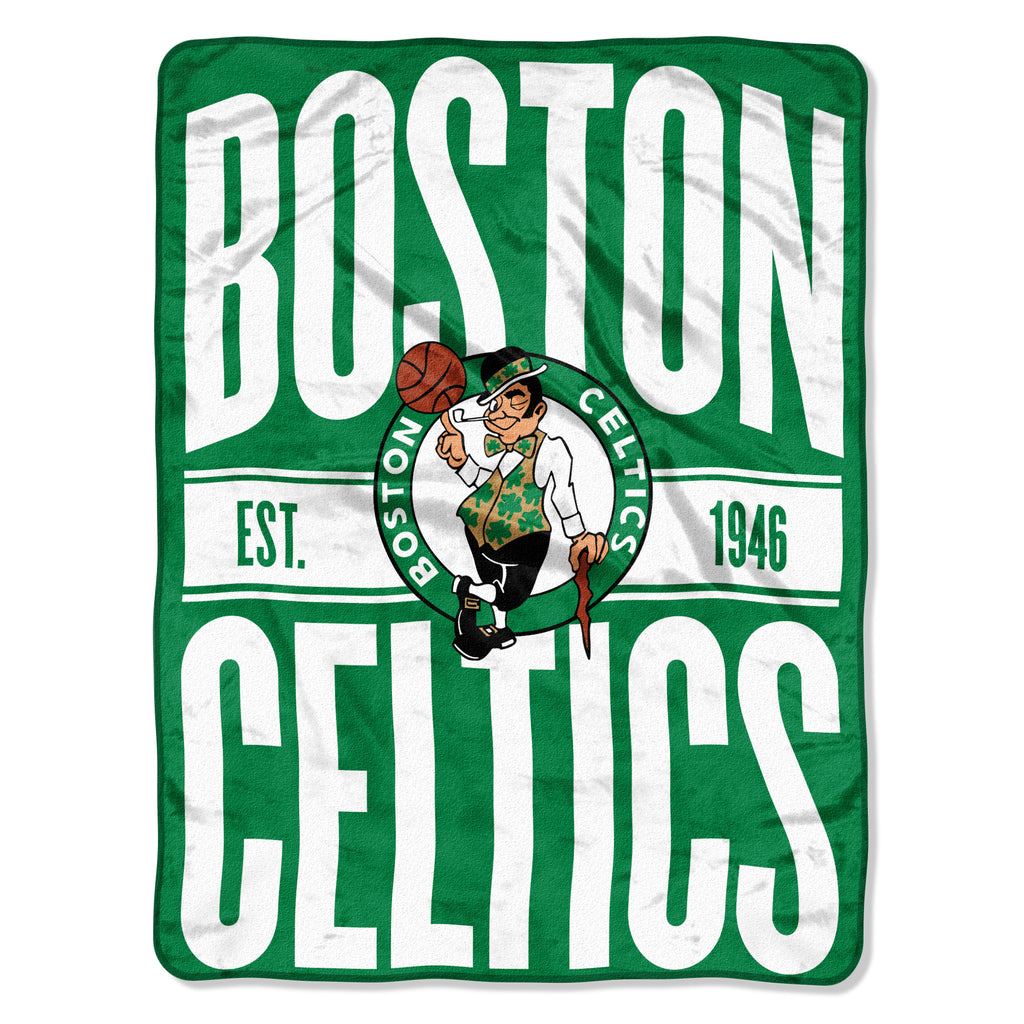 Boston Celtics Blanket 46x60 Micro Raschel Clear Out Design Rolled - Special Order