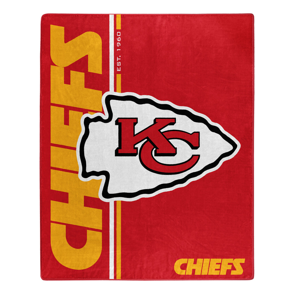 Kansas City Chiefs Blanket 50x60 Raschel Restructure Design