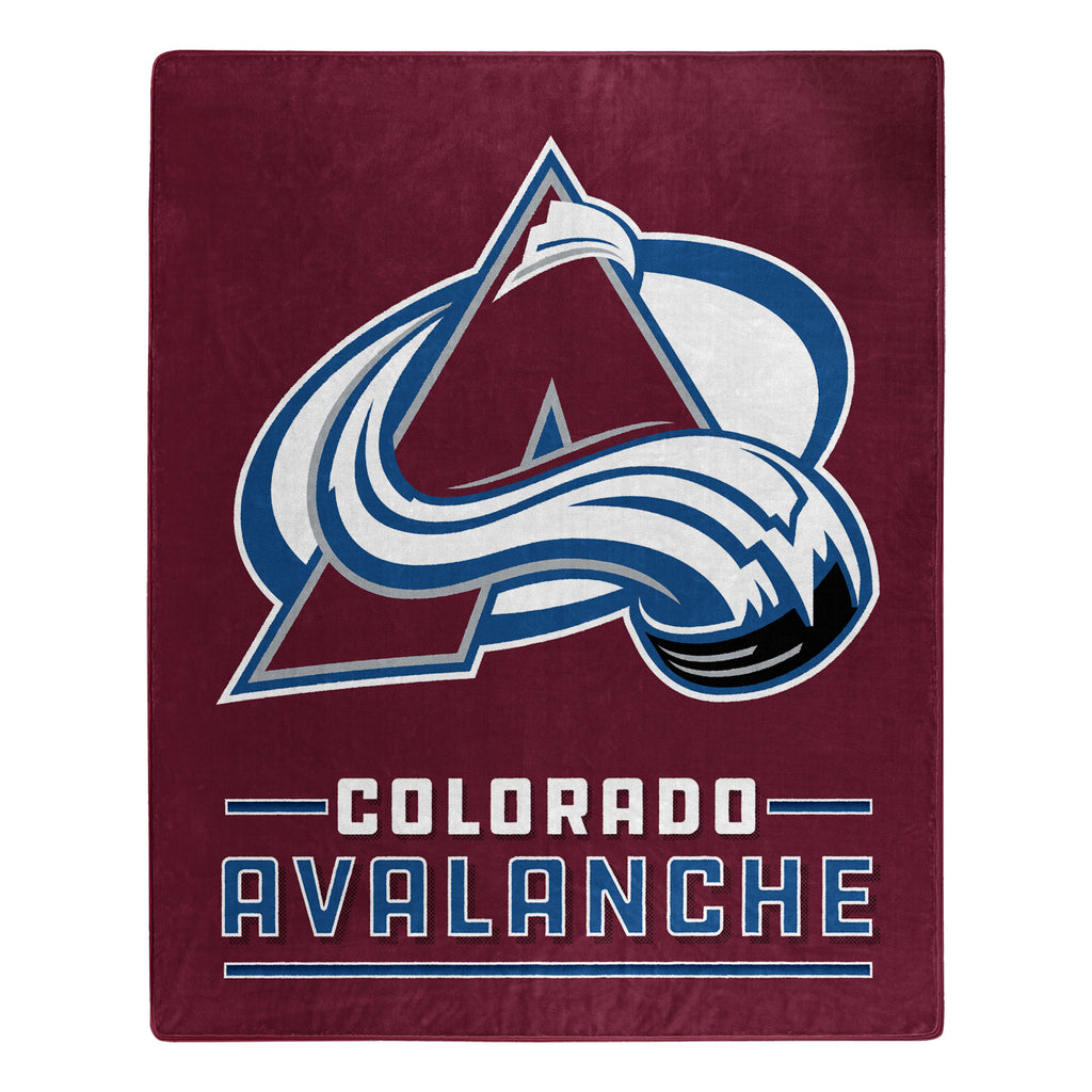 Colorado Avalanche Blanket 50x60 Raschel Interference Design