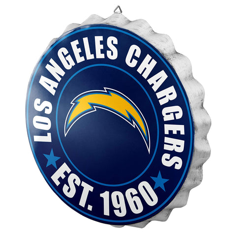 Los Angeles Chargers Sign Bottle Cap Style