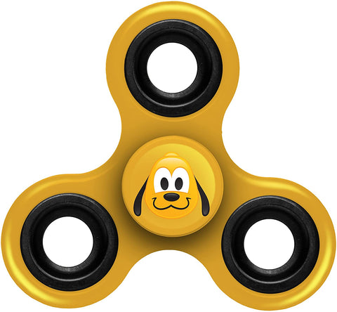 Disney Mickey Mouse Spinnerz Three Way Diztracto Pluto Yellow