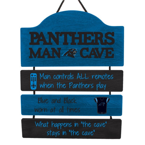 Carolina Panthers Sign Wood Man Cave Design