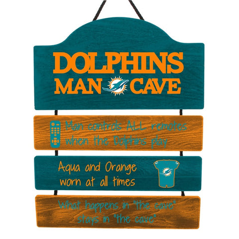 Miami Dolphins Sign Wood Man Cave Design