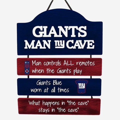 New York Giants Sign Wood Man Cave Design