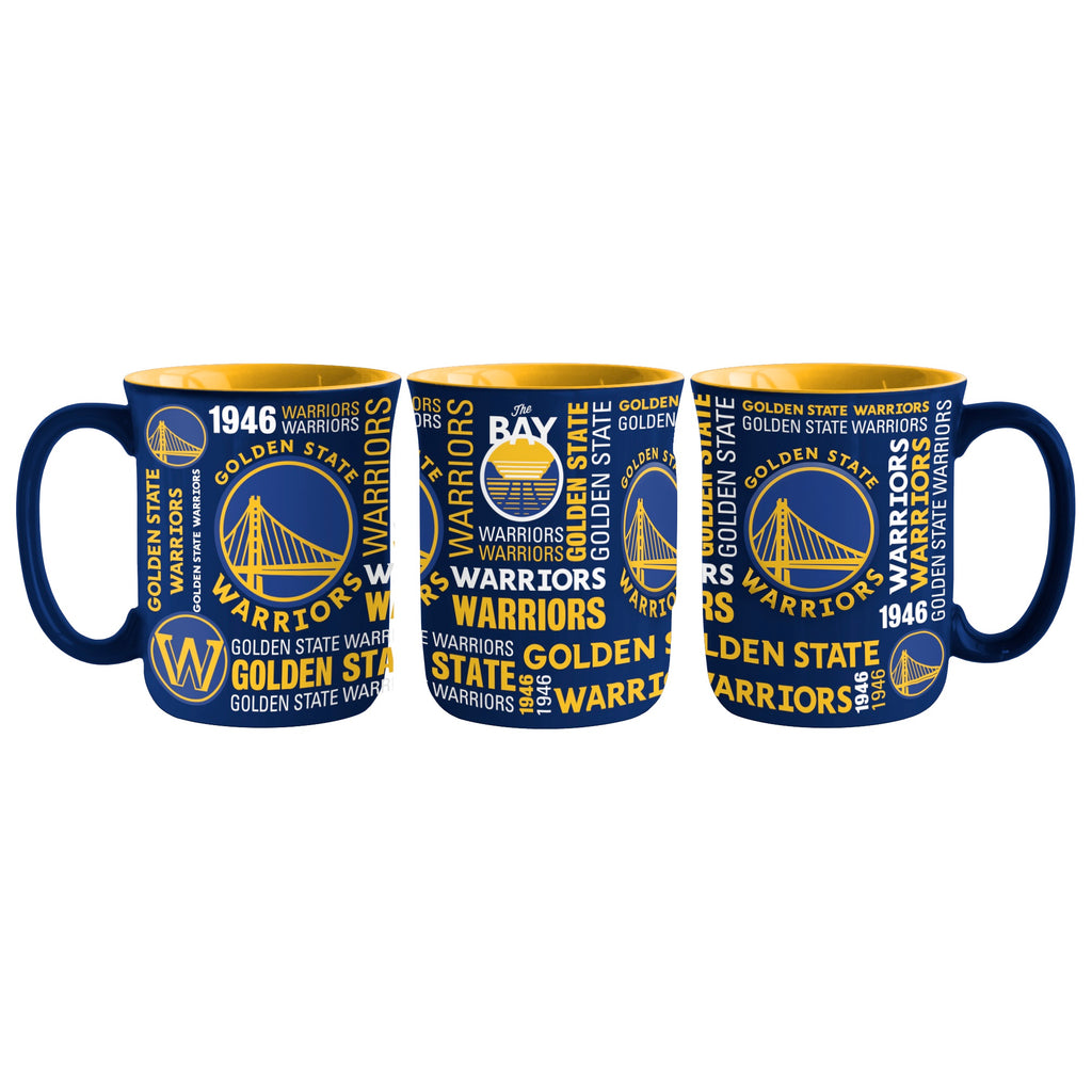 Golden State Warriors Coffee Mug 17oz Spirit Style Alternate Design