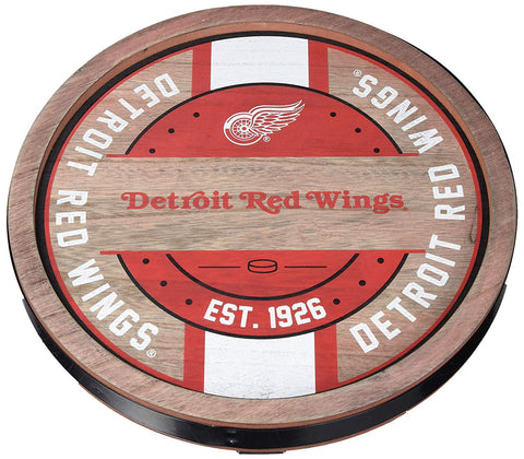 Detroit Red Wings Sign Wood Barrel Design
