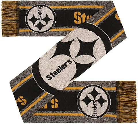 Pittsburgh Steelers Scarf Big Logo Wordmark Gray