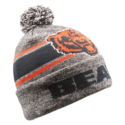 Chicago Bears Beanie Gray Stripe Light Up