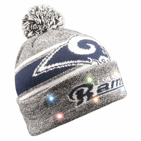 Los Angeles Rams Beanie Gray Stripe Light Up