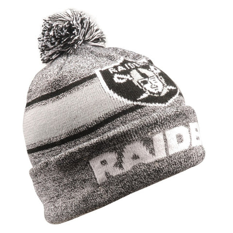 Las Vegas Raiders Beanie Gray Stripe Light Up