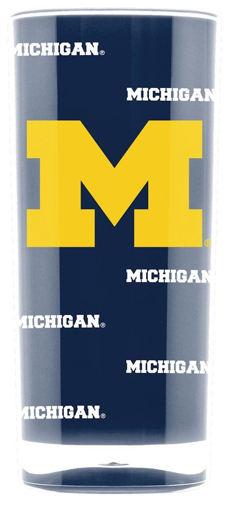 Michigan Wolverines Tumbler - Square Insulated (16oz)