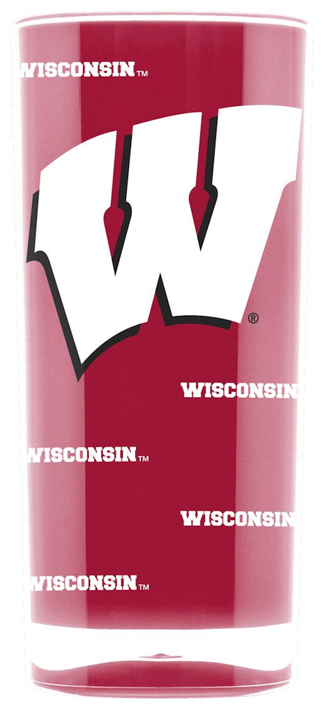 Wisconsin Badgers Tumbler - Square Insulated (16oz) - Special Order