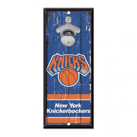 New York Knicks Sign Wood 5x11 Bottle Opener