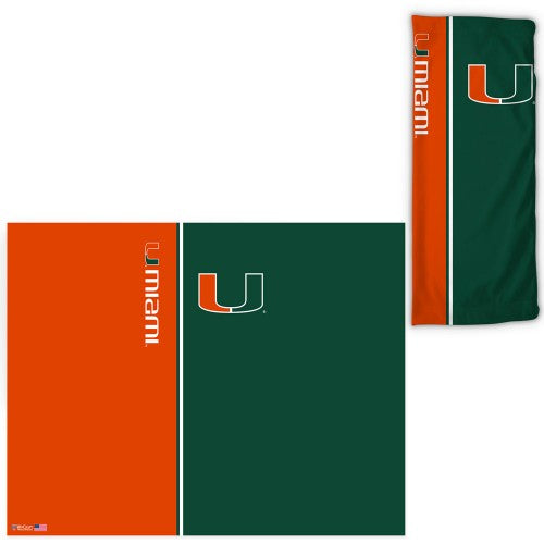 Miami Hurricanes Fan Wrap Face Covering