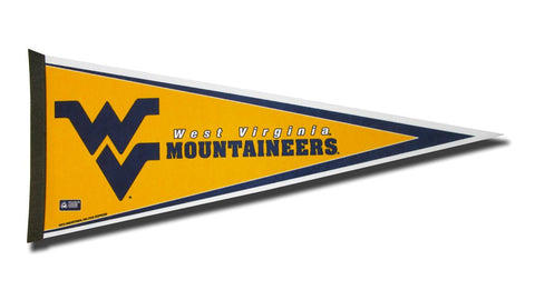 West Virginia Mountaineers Pennant 12x30 Carded Rico