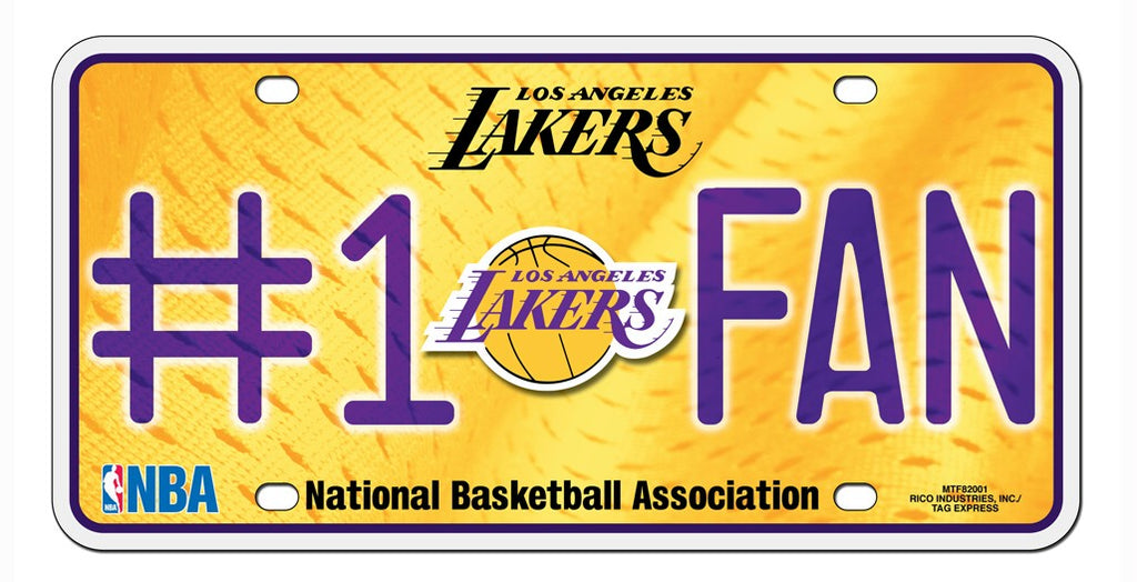 Los Angeles Lakers License Plate #1 Fan