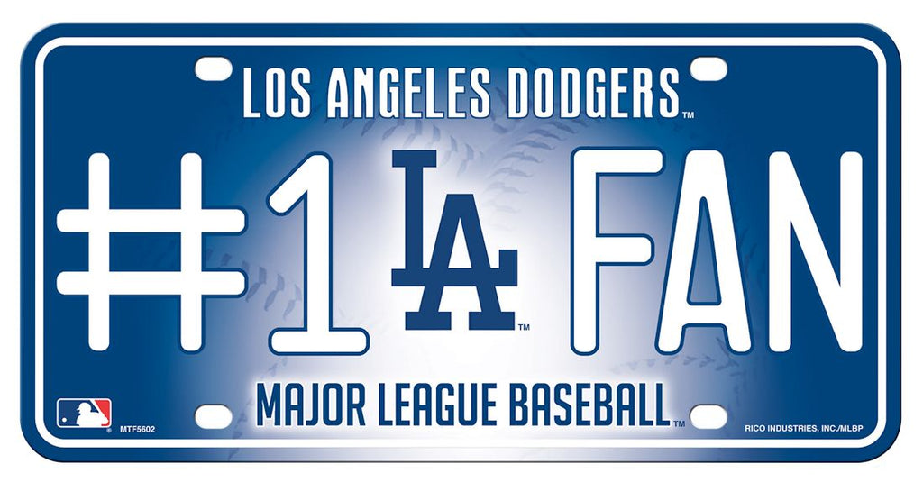 Los Angeles Dodgers License Plate #1 Fan