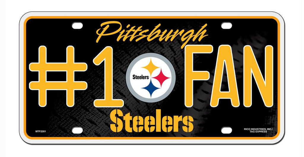 Pittsburgh Steelers License Plate #1 Fan