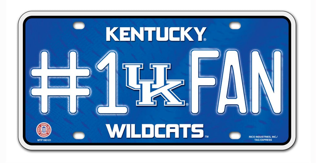 Kentucky Wildcats License Plate #1 Fan