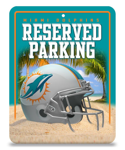 Miami Dolphins Sign Metal Parking