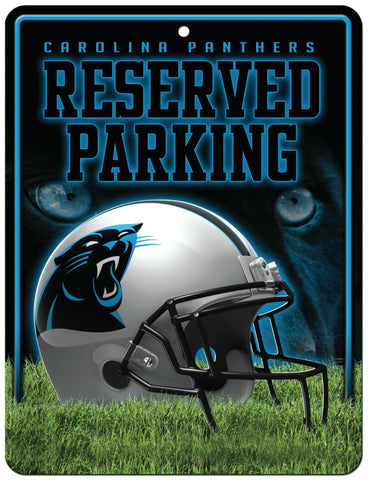 Carolina Panthers Sign Metal Parking