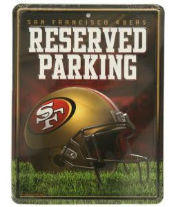 San Francisco 49ers Sign Metal Parking