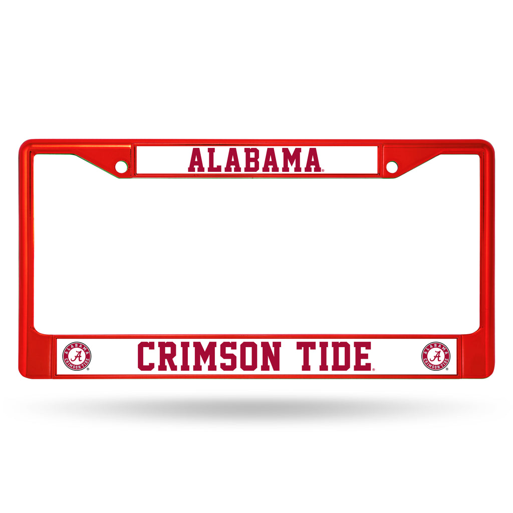 Alabama Crimson Tide Metal License Plate Frame - Red