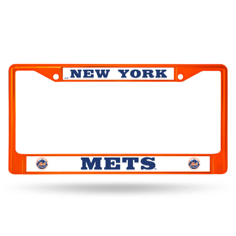 New York Mets License Plate Frame Metal Orange