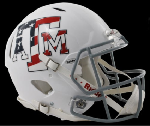 Texas A&M Aggies Revolution Speed Pro Line Helmet - Stars & Stripes - Special Order