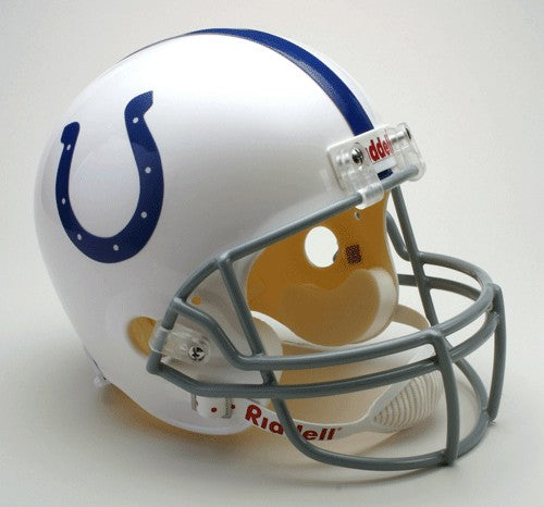 Indianapolis Colts Riddell Deluxe Replica Helmet 2004-2019 Throwback