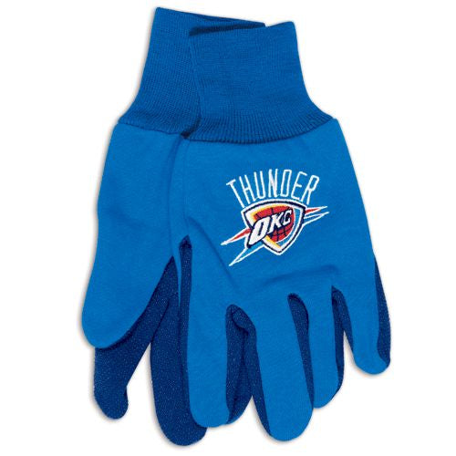 Oklahoma City Thunder Two Tone Gloves - Adult - Special Order