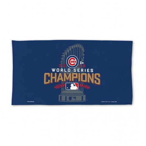 Chicago Cubs Towel - Locker Room - 24 in x 42 in - Celebration - 2016 World Series Champs