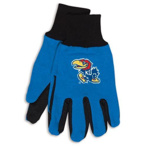 Kansas Jayhawks Two Tone Gloves - Adult