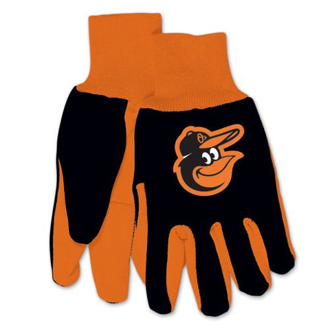 Baltimore Orioles Gloves Two Tone Style Adult Size Size Special Order