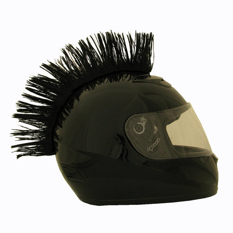 Motorcycle Helmet Mohawk - Black