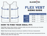 Glacier Tek Flex Vest, Gray, Includes 1 set of GlacierPacks