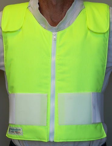 Glacier Tek Original Cool Vest - High Visibility (NO reflective), Includes GlacierPack Set