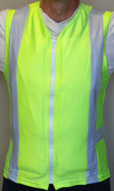 Glacier Tek Flex Vest, ANSI Class 2 High Visibility, Includes 1 set of GlacierPacks