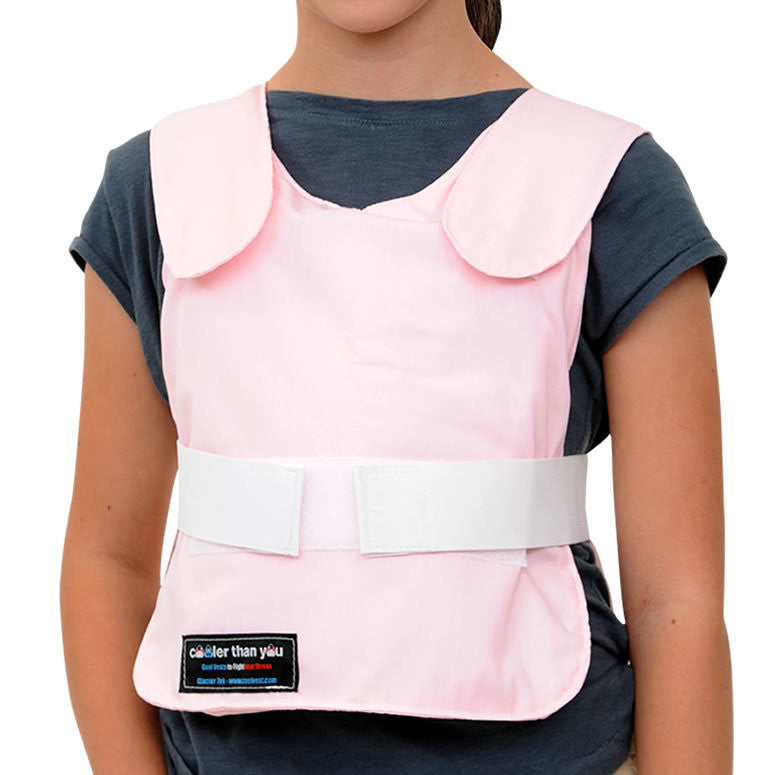 Glacier Tek Children's Cool Vest - Pink, Includes GlacierPack Set