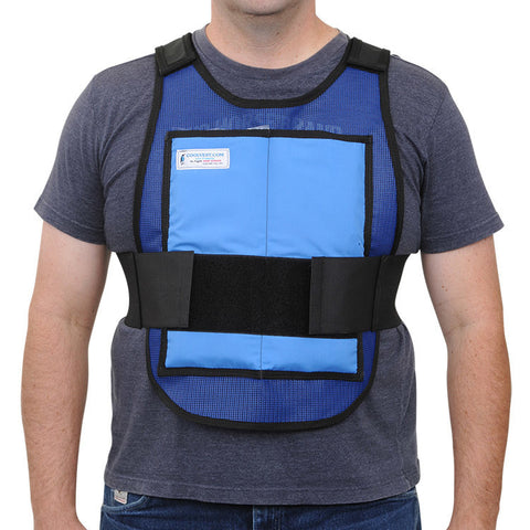 Glacier Tek Classic Cool Vest - Safety Blue, Includes GlacierPack Set