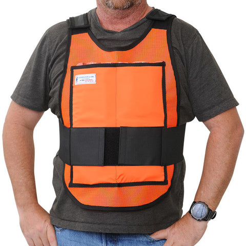 Glacier Tek Classic Cool Vest - Safety Orange, Includes GlacierPack Set