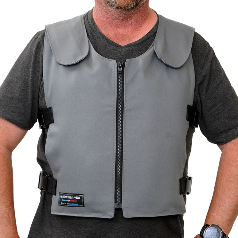 Glacier Tek Original Cool Vest - Gray Banox® FR3, Includes GlacierPack Set