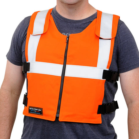 Glacier Tek Original Cool Vest - Orange Banox® FR3, Includes GlacierPack Set