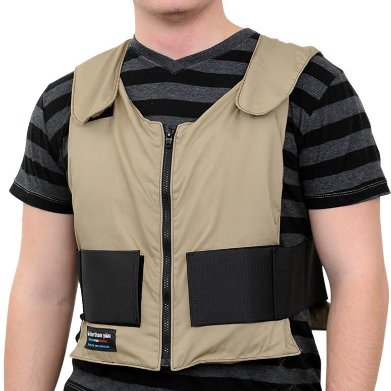 Glacier Tek Original Cool Vest - Tan Khaki, Includes GlacierPack Set